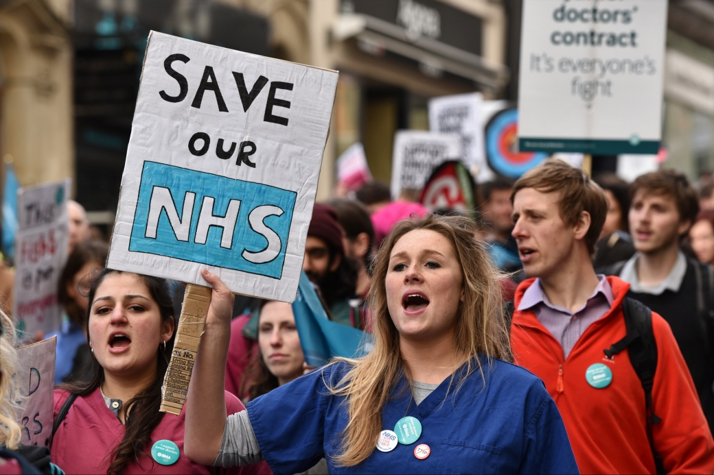 Junior Doctors Hold All-out Strike